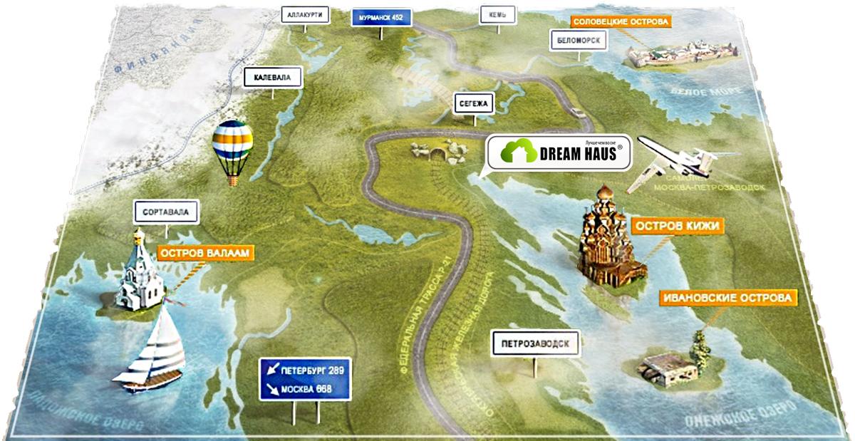 Карта карелии медвежьегорский район